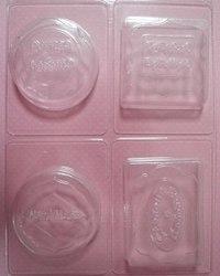 """Набор формочек пластиковых для литья """"ручная работа"""", 21х17,5 см, 4 вида, Кустарь"""