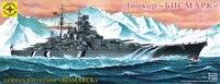 """Модель """"линкор бисмарк"""", 1:350, Моделист"""