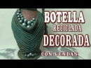 DIY JARRON HECHO CON BOTELLA DE CRISTAL - VASE MADE WITH GLASS BOTTLES