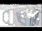 Коттедж 2 этажа в SketchUp - workflow