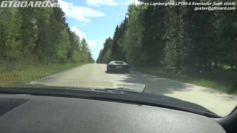 [50fps] Nissan GTR 550 HP vs Lamborghini LP700-4 Aventador GTBOARD.com Event May_HD