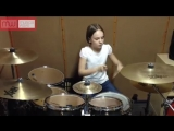 Девочка играет на барабанах (drum cover System Of A Down -Toxicity by Чешельска Юлия) )