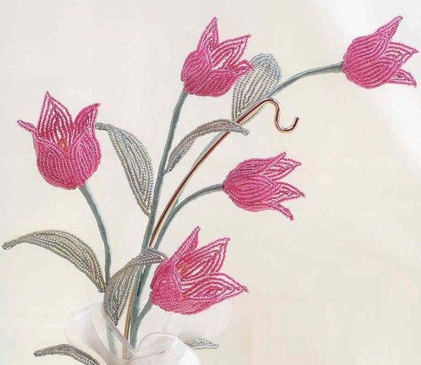 #бисер #тюльпаны #цветы #