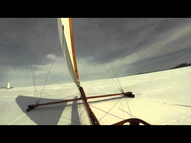 Ice boat racing, 2014 wipeout