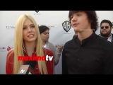 Katherine McNamara &amp Joel Courtney Interview 2014 TJ Martell Family Day Red Carpet