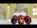 Летачки Маша и Медведь Спайдермен Человек Паук на русском яйца с сюрпризом открываем игрушки
