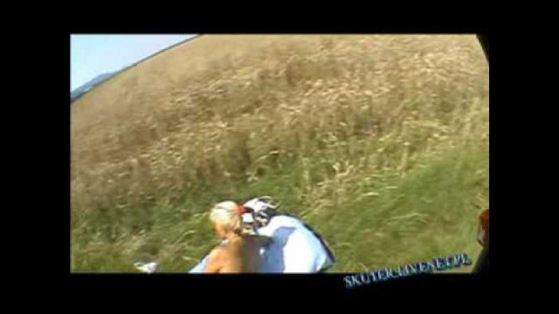 OLEJEK - Ciekawe lądowanie przy opalającej się dziewczynie