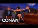Evangeline Lilly's Ear Fetish - CONAN on TBS