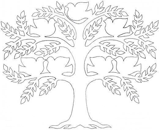Вытынанки дерево жизни шаблоны
