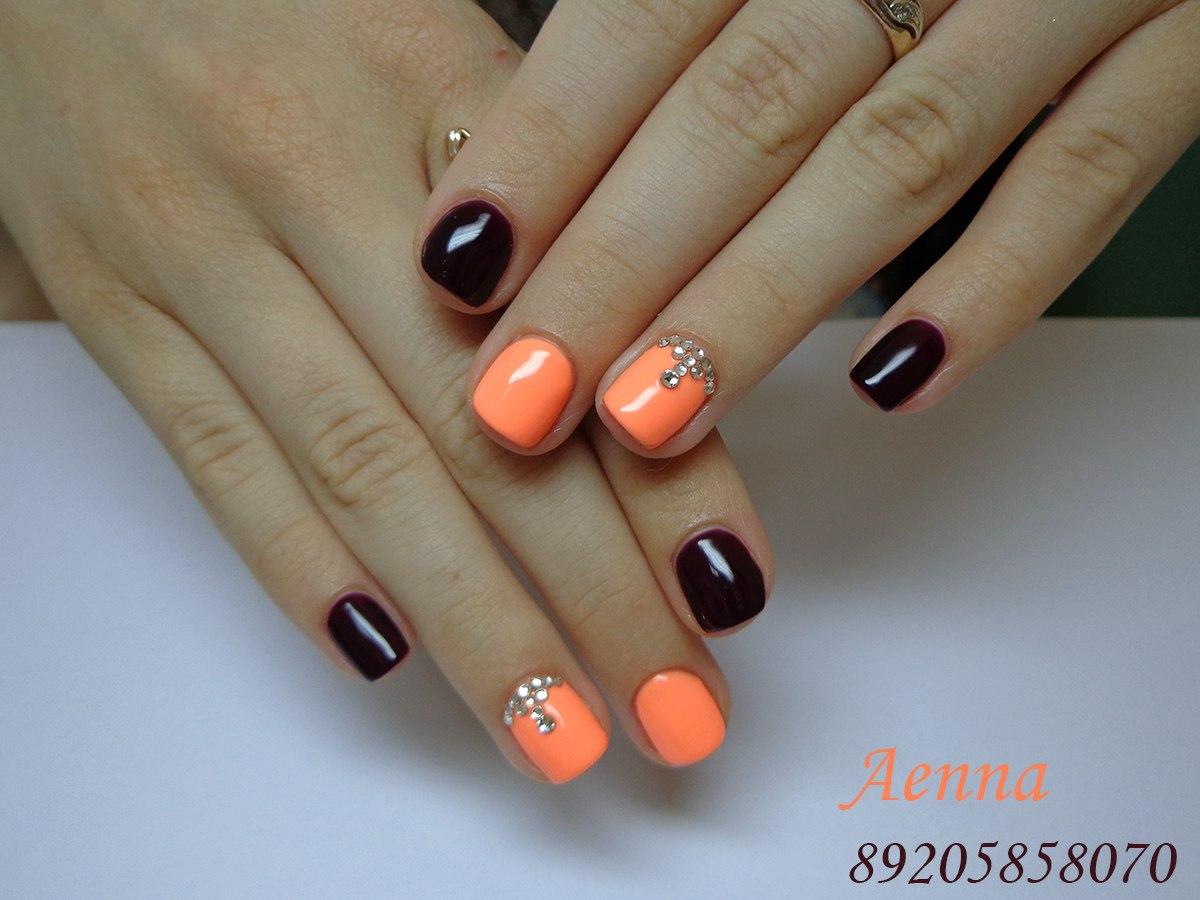 Рисунки дизайн на короткие ногти шеллак фото