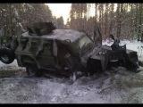 Украина АТО. Подбитый «Кугуар» Украинских военных. Декабрь 2014