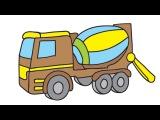 Color My Favorite Toys 3:HELICOPTER & CEMENT MIXER! Мультик Раскраска на Английском [孩子颜色直升机和水泥搅 ...