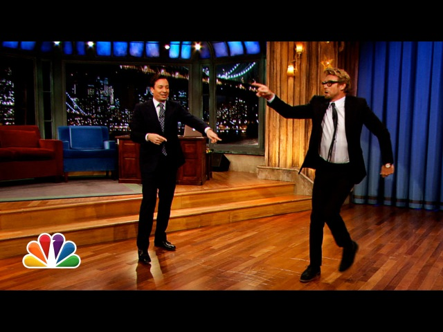 Simon Baker and Jimmy Fallons Mick-Off (Late Night with Jimmy Fallon)
