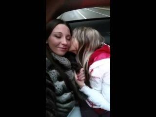 Gina Gerson & Julie Skyhigh lesbians feeling hot kissing hot in the car amateur voyeur