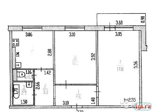 Двухкомнатная квартира 121 серия дизайн