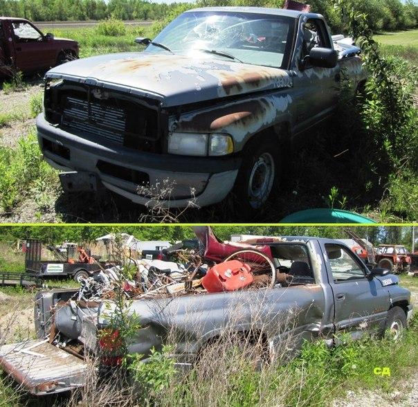 Брошенные авто и разбитые автомобили