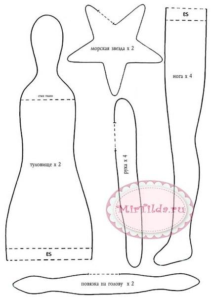 и схема шитья куклы