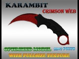 CS:GO KARAMBIT CRIMSON WEB HD skin for cs 1.6