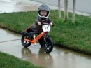 2 year old strider bike rider, future motocross star