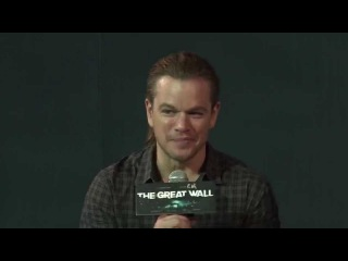 150702 The Great Wall Press Conference - Matt Damon Talks About Luhan