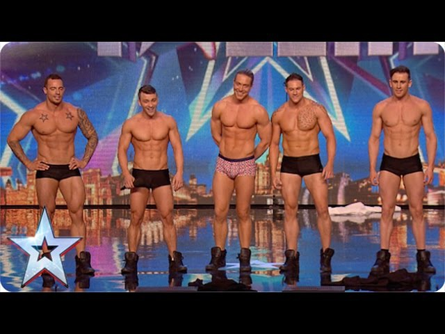 Why hello boys! Feeling a bit hot under the collar are we | Britains Got More Talent 2015