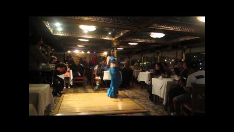 Belly dancer Aleya of Cairo Nile Pharoah's Boat Cairo Egypt 2014
