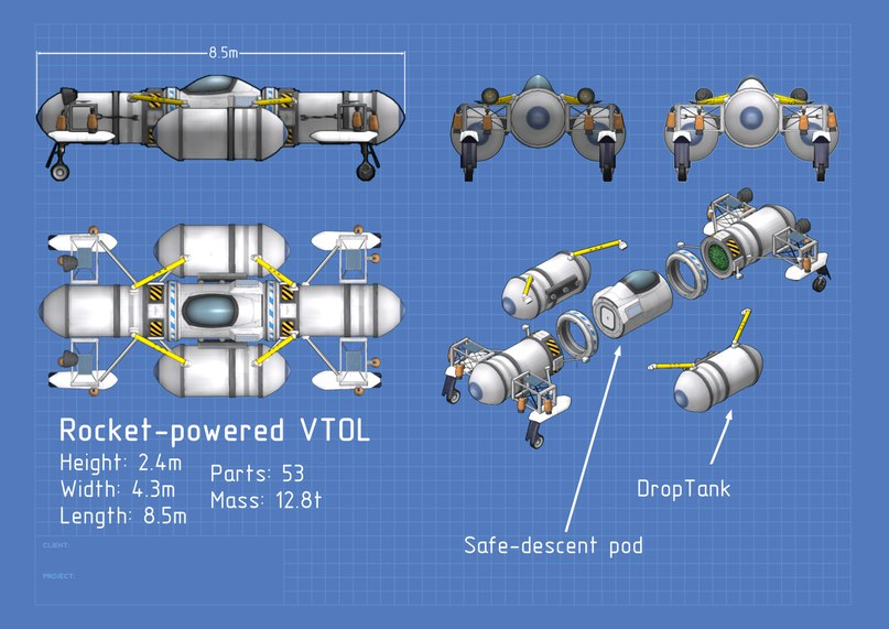 Rocket-powered VTOL