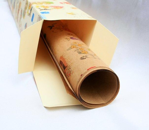 Купить обёрточную бумагу для упаковки подарков