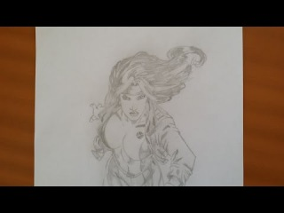 Drawing Rogue from X-Men