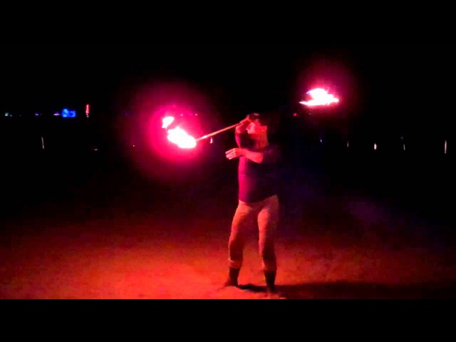 Aileen Lawlor contact fire staff Burning Man 2012