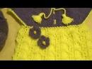 Вязаное платье спицами на 1 годик