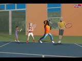 красный,оранжевый и зеленый мяч в детском теннисе. tennis10s