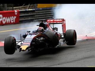 Формула 1.Гран-При Монако 2015. Опасная Авария Ферстаппена с Грожаном.