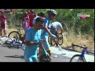 Huge Crash in Vuelta a Espana 2015 HD - Stage 2
