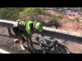 Alex Howes Crashes Into The Barrier - Vuelta a Espana 2015 HD
