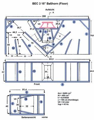 Пример – басовый кабинет В-6