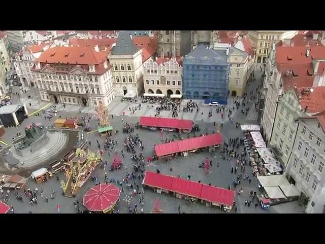 Вид на Прагу из Пражской ратуши