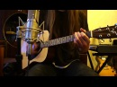 Yamaha F310 Acoustic Guitar 💢 Radiohead Karma Police Sony Alpha NEX-5 Shure SM57 Line 6 POD X3 Live.