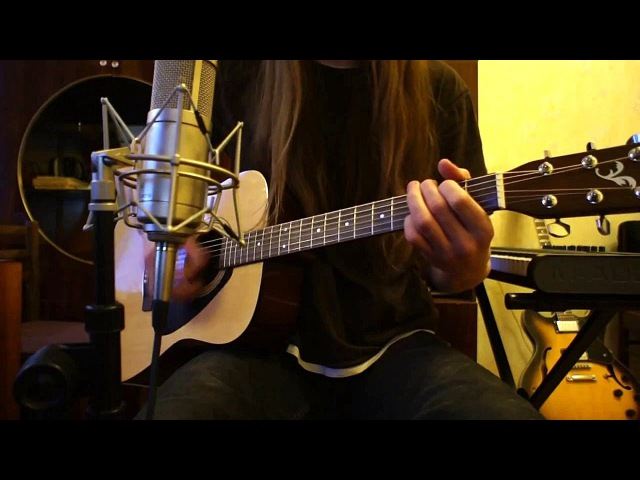 Yamaha F310 Acoustic Guitar ● Radiohead Karma Police Sony Alpha NEX 5 Shure SM57 Line 6 POD X3 Live