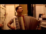 Коробушка (Korobushka) on accordion (Tetris) - гармонь