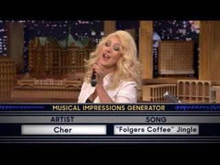 Кристина Агилера /Wheel of Musical Impressions with Christina Aguilera 23 02 2015