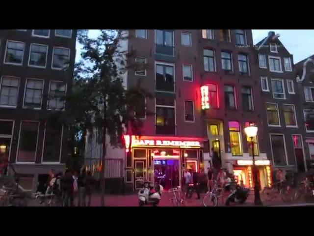 Amsterdam Evening walk around the Red Light District De Wallen in Holland - the Netherlands 1