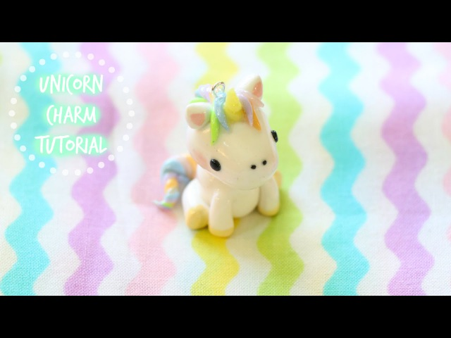 Polymer Clay Unicorn Charm Tutorial