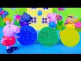 Свинка Пеппа делает пластилиновые фигурки - Развивающий мультик. Peppa Pig playing with plasticine
