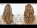 DIY: Curl Your Hair with a Flat Iron