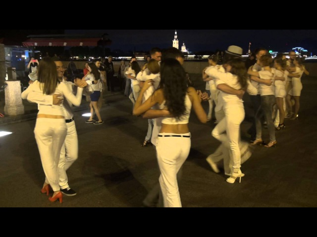 30 августа 2015 года. Кизомба-flashmob на Стрелке В.О.