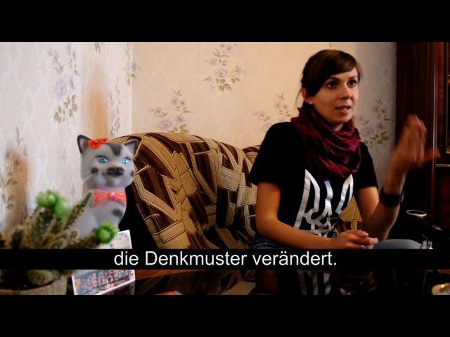 Interview mit Nastia Makarenko (Kiewer Fahrradverband, Maidanbibliothek) | Kiew x20