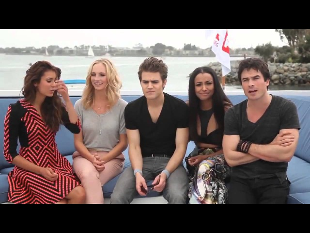 The Vampire Diaries Cast At TV Guides Yacht Party Comic Con 2013 Interview