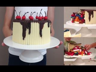 Как сделать торт Пиньята на день рождения