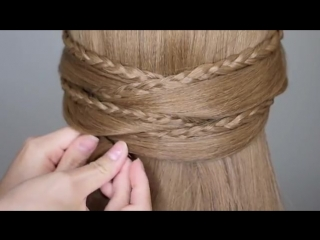 Braided Half Up Half Down Prom Hairstyle